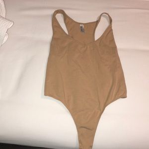 American Apparel Nude Thong Body suit